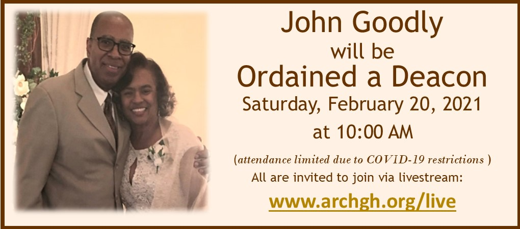 John Goodly Ordination 02 20 21